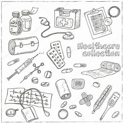 Medicine Health Drawings Care Drawing Sketches Vector
