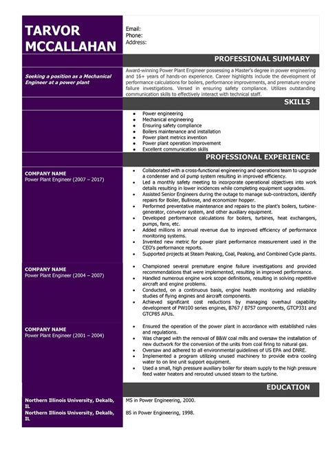 mechanical engineer resume sles and writing guide resumeyard