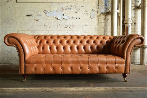 vintage leather loveseat handmade chesterfield sofa chair 3 seat vintage 3236