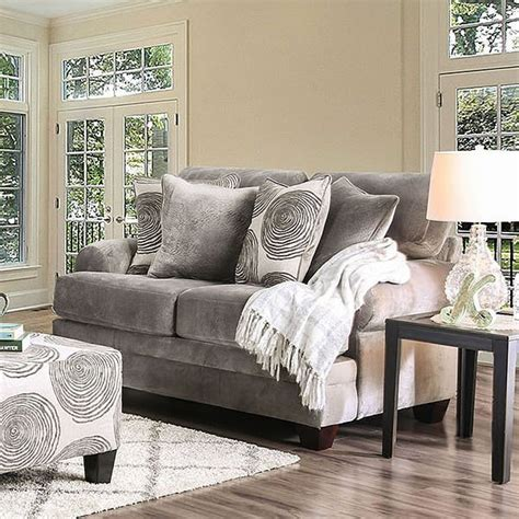 bonaventura loveseat gray  furniture  america