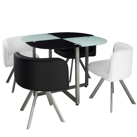 table chaise pas cher table scandinave et chaises vintage 90 blanc et noir pas