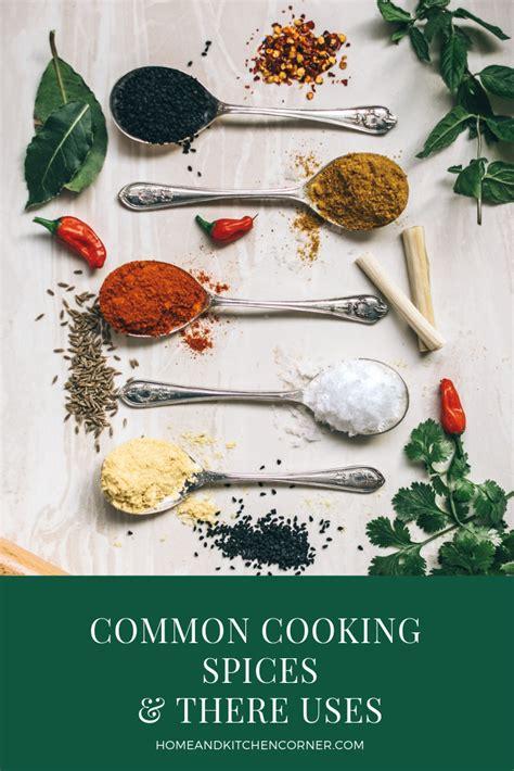 list  common spices    home kitchen corner