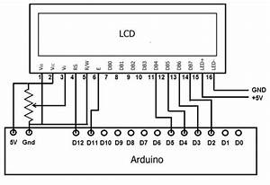 how to display text on an hd44780 lcd with an arduino use With lcd display diagram
