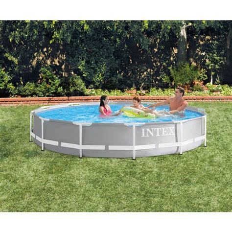 piscine intex tubulaire 3 66 piscine tubulaire ronde intex prism frame 3 66 x 0 76 m