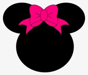 minnie pink polka dot bow minnie mouse silhouette vector