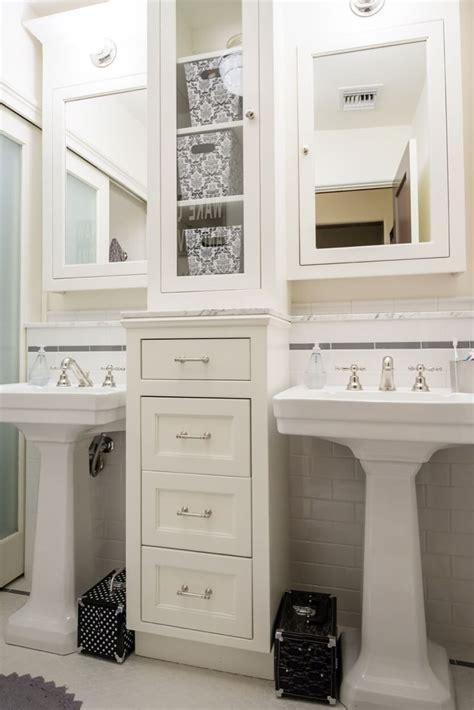 bathroom pedestal sinks ideas pedestal sinks with storage drawers in between