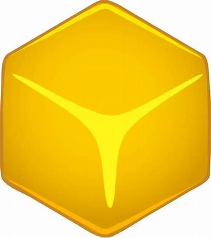Cube 3d Yellow Clip Clipart Vector Amarillo