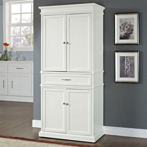 crosley parsons white storage cabinet cf wh  home