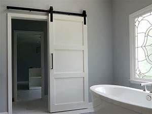 modern three panel barn door With 3 panel glass barn door