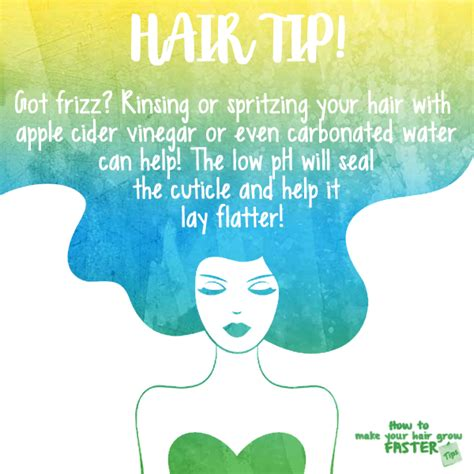 Hair Tips by Hair Tip Rinse With Apple Cider Vinegar To Prevent Frizz