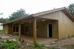 maison en bois de 156m2 avec terrasse entierement couverte With terrasse couverte en bois