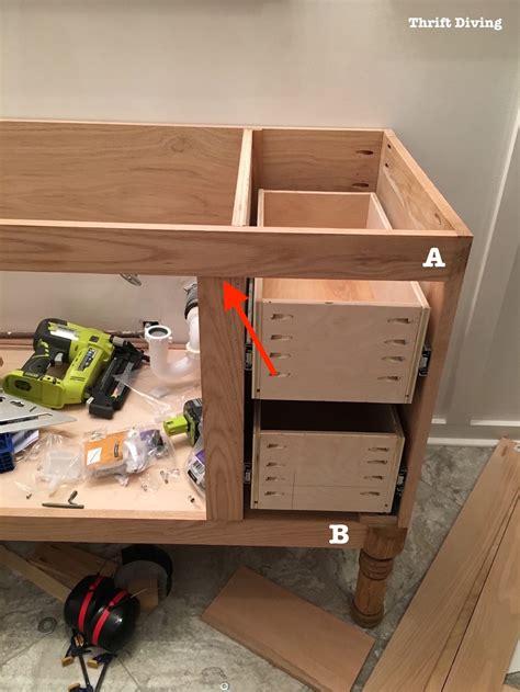 how to build cabinet drawers building a diy bathroom vanity part 5 making cabinet doors