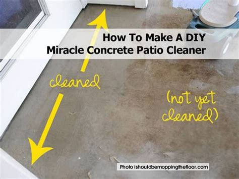 how to make a diy miracle concrete patio cleaner