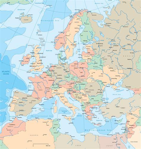 large detailed political map  europe europe large