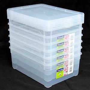 Kunststoffbox Mit Deckel 100 L : kunststoffboxen set 6 x 10 liter ean 3700632601077 kunststoffbox mit ~ One.caynefoto.club Haus und Dekorationen