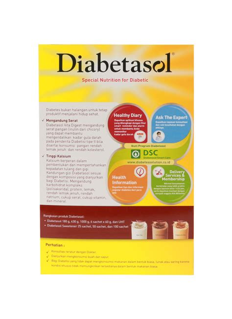 diabetasol susu formula khusus udiabetes coklat box