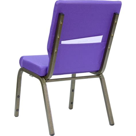 18 5 w purple fabric stacking hercules church chair with