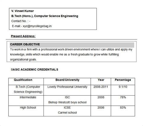 diploma electronics fresher resume