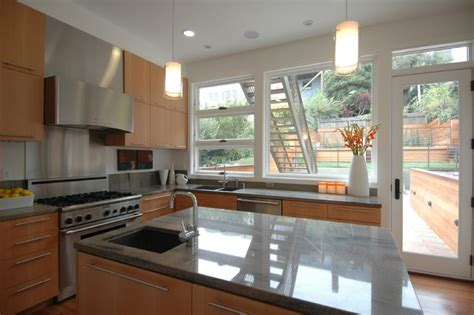 Warm Modern In Noe Valleykitchen  Modern  Kitchen San