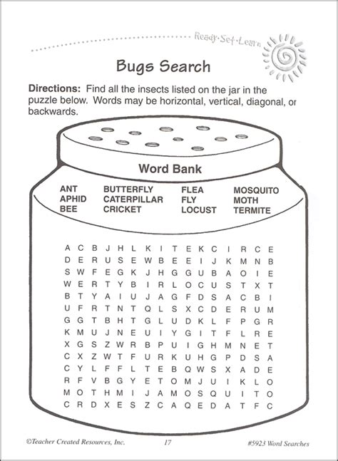 5th grade physical science word search s day