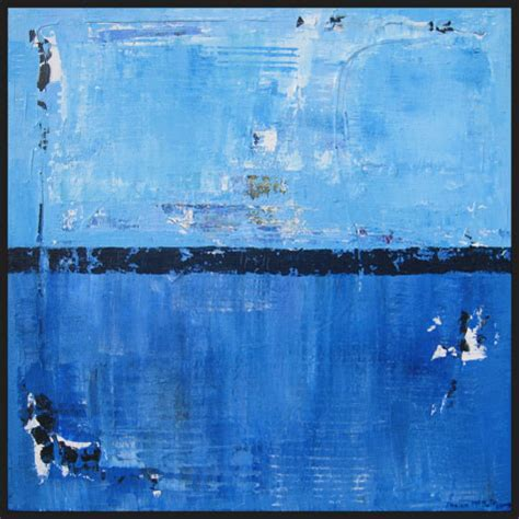 shiver blue  blue abstract art painting shawn mcnulty