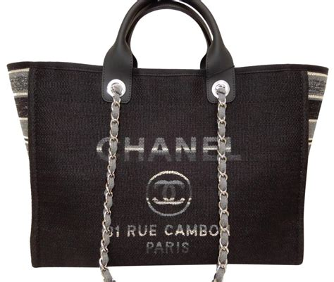 chanel canvas tote bags      tradesy