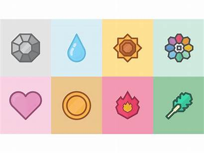 Pokemon Badges Dribbble Illustrate Serie Watching Thought