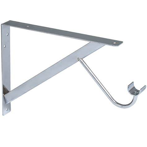 shelf and rod support bracket in closet rods and brackets