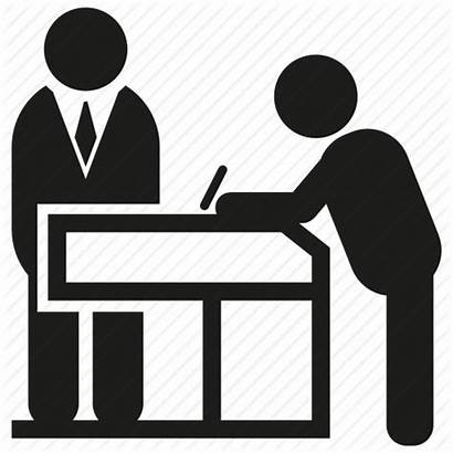 Icon Reception Desk Office Register Writing Clipart