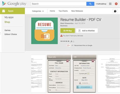 Resume Builder App by 10 Essential Apps For Ios Windows Blackberry