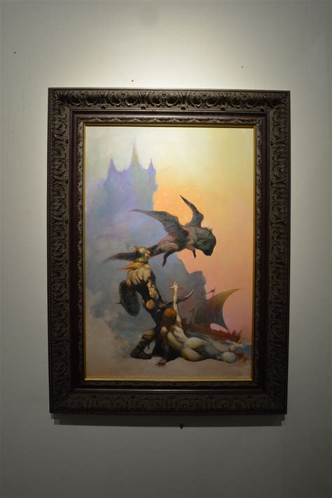 masters collection flying reptile frazetta art museum