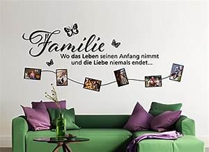 Wandtattoo Sprüche Familie : wandtattoo familie family spr che ~ Frokenaadalensverden.com Haus und Dekorationen