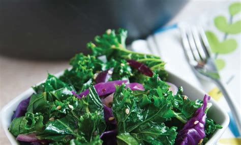 stir fried sesame kale red cabbage recipe relish