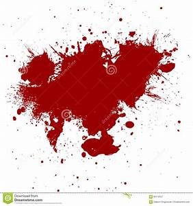 Abstract Red Ink Paint Splatter Background. Illustration ...