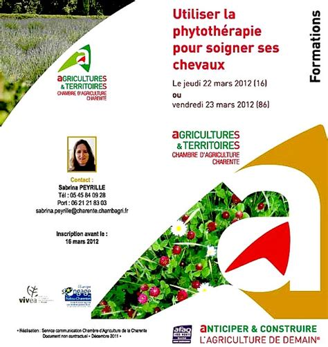 chambre agriculture 86 formation phytothérapie chambre agriculture charente
