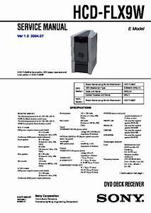 Sony Dhc-flx9w  Ws-flx9l Service Manual