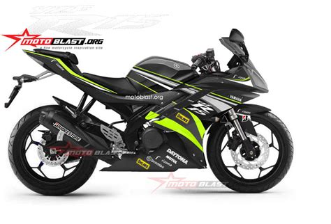 Modifikasi Sederhana Shogun 110 Warna Hitam by Modifikasi Striping Yamaha R15 Black Se Ohlins Edition