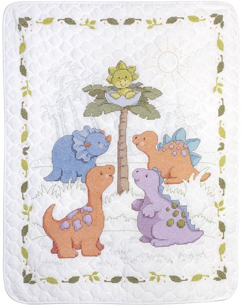 cross stitch quilt kits cross stitch kit plaid bucilla a saurus dinosaur