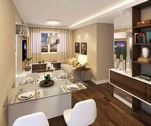 idee d39amenagement salon salle a manger decoration et With amenagement interieur petit espace