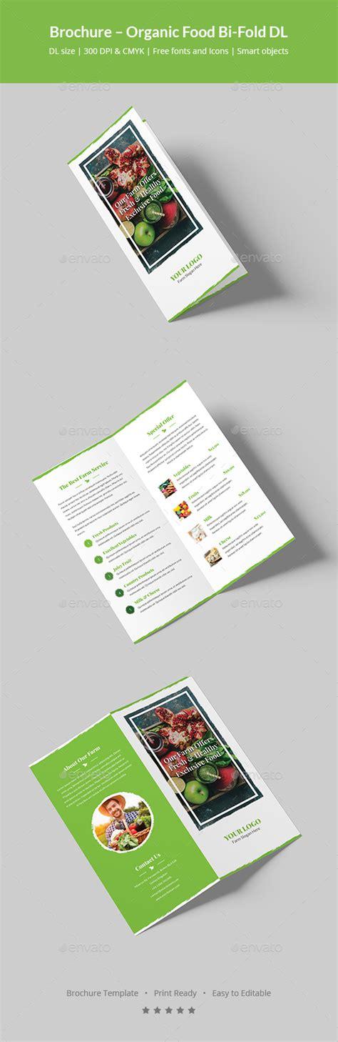Dl Brochure Template by Brochure Organic Food Bi Fold Dl By Artbart Graphicriver