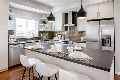 cuisine idee cuisine idee deco cuisine blanche avec gris couleur idee