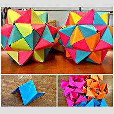 Postit Origami Icosahedron