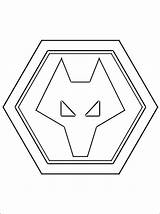 Wolverhampton Wanderers Football Coloring Pages Club Team Printable Template English Emblem Wanderer Professional West Templates Imprimer sketch template