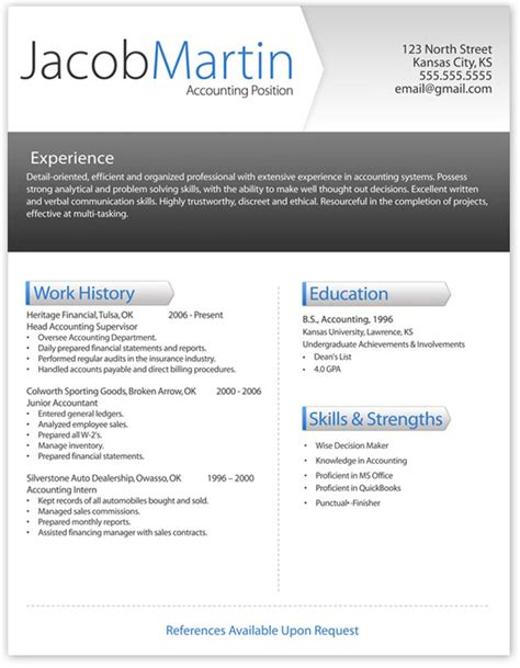 modern cv template our 5 favorite resume templates best