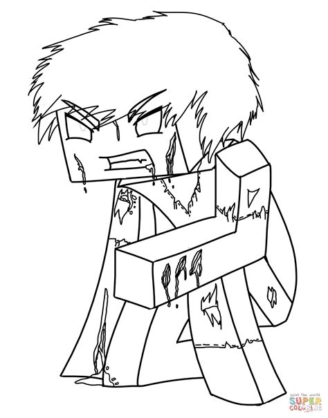 minecraft herobrine  minecraft coloring page  coloring pages