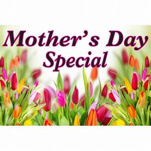 Mother's Day Specials Pink 2' x 3' Vinyl Business Banner ...