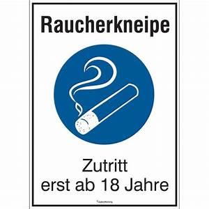 Apps Ab 18 Jahren : hinweisschild f r gewerbe und gastronomie raucherkneipe ~ Lizthompson.info Haus und Dekorationen