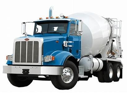 Truck Peterbilt Concrete Mixer Transparent Background