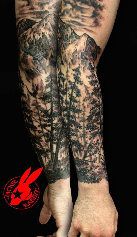 forest tattoo sleeve  pinterest leg tattoos women
