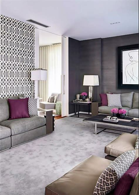 Grey And Purple Living Room Curtains by 1000 Images About Living Room Purple Accents On